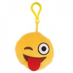 Porte-clés Moelleux Smiley Emoti Clin d'Oeil & Tire La Langue avec Son