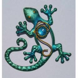 Magnet Lézard en Métal Turquoise 01