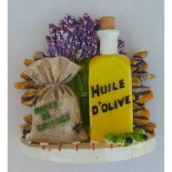Magnet Résine Lavande/Herbes de Pce/Huile d'Olive