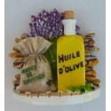 Magnet Résine Lavande/Herbes de Provence /Huile d'Olive