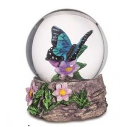 Boule de Neige Figurine Papillon Bleu Turquoise