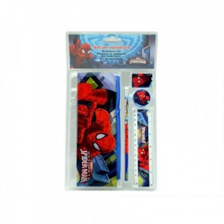 """Set Papeterie 4 pièces + Trousse """"Spiderman"""""""