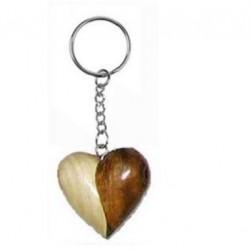 Porte-Clés Coeur en Bois ( 2 couleurs)