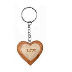 Porte-Clés Coeur Love en Bois