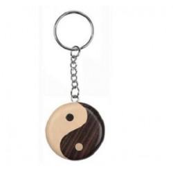 Porte-Clés Yin Yang en Bois