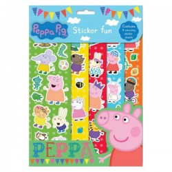 "Set de 5 Feuilles de Stickers ""Peppa Pig"""