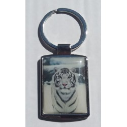 Porte-Clés Métal Tigre Blanc