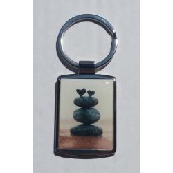 Porte-Clés Métal Zen Coeur