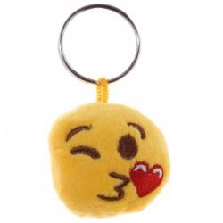 Porte-clés Moelleux Smiley Clin d'Oeil Amour avec Son