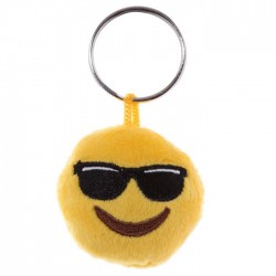 Porte-clés Moelleux Smiley Lunettes avec Son