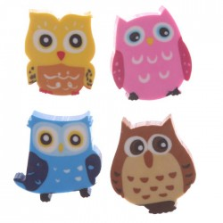 Set de 4 Mini-Gommes Hibou