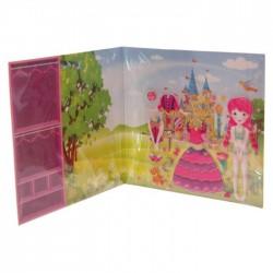 Livre Princesse Féérique à Habiller (Cheveux Roses)