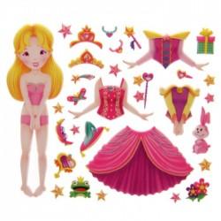 Livre Princesse Féérique à Habiller (Cheveux Blonds)
