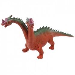 Jouet Dragon à 2 têtes (marron, vert)