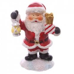Mini Figurine Père Noël Cadeau avec petit sac cadeau