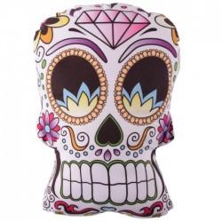 Coussin en forme de Tête de Mort Mexicaine