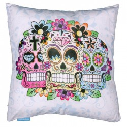 Coussin Carré Jour des Morts Mexicaines