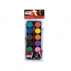 """Boîte de peinture en pastille 12 pièces  """"Star Wars"""""""