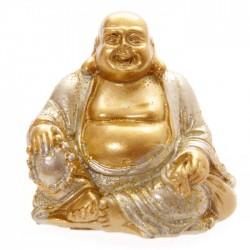 Mini Bouddha Pailleté Argent