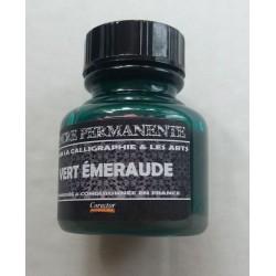 Encre Permanente VERT EMERAUDE - 30 ML