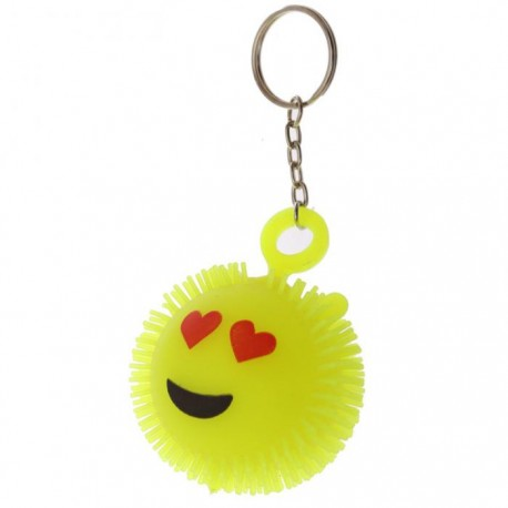 Porte-Clés Anti-Stress Lumineux Smiley Coeurs