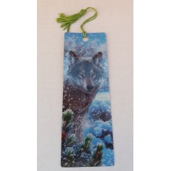 Marque Page 3D  Loup Neige