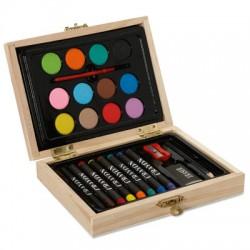Mini Valisette de Coloriage en Bois