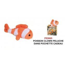 Peluche Poisson Clown dans pochette cadeau