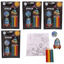 Set 6 Crayons de couleur Design Espace