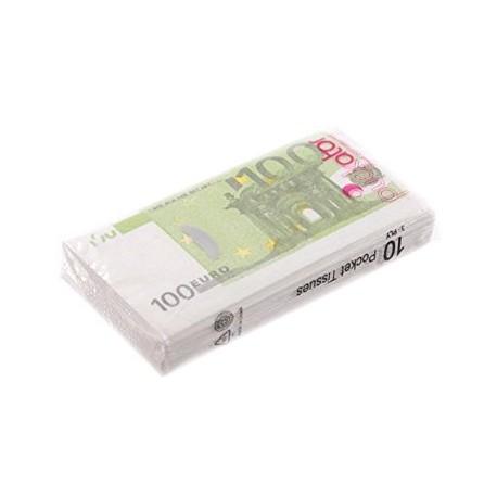 """Paquet de Mouchoirs """"Billets de 100 Euros"""""""