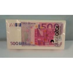 """Paquet de Mouchoirs """"Billets de 500 Euros"""""""