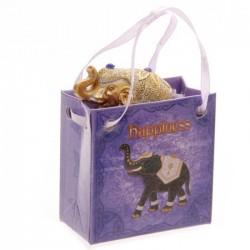 """Eléphant Porte Bonheur """"Bonheur"""" avec petit sac cadeau"""