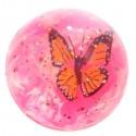 Balle Rebondissante Rose 3D Papillon