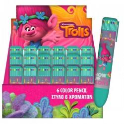 """Stylo 6 couleurs """"Trolls"""""""
