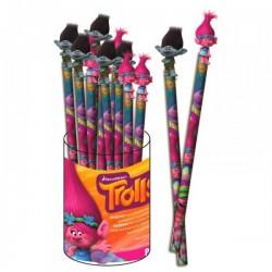 """Crayon à Papier Rose + Topper 3D """"Trolls"""""""