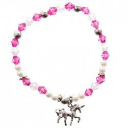 Bracelet Licorne Rose