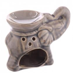 Mini Brûleur A Huile Céramique Eléphant Gris