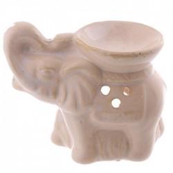 Mini Brûleur A Huile Céramique Eléphant Blanc