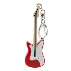 Porte-Clés Lumineux et Sonore Guitare Rouge